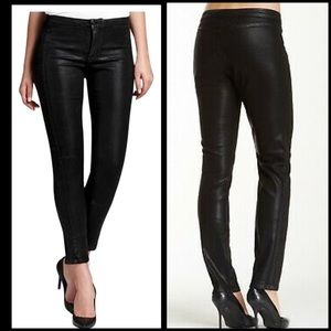 NYDJ Jeans - NYDJ Black Antionia Faux Leather Jeans